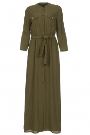 Atos Lombardini |  Maxi dress with shimmering buttons Mindi | green  | Picture 1