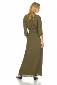 Atos Lombardini |  Maxi dress with shimmering buttons Mindi | green  | Picture 6