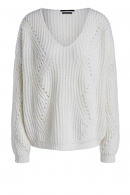 Set    Knitted V-neck sweater Vinnie   white    Picture 1