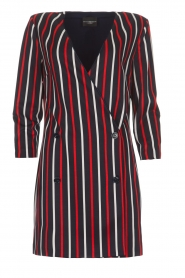 Atos Lombardini |  Striped blazer dress Cassie | blue  | Picture 1
