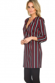 Atos Lombardini |  Striped blazer dress Cassie | blue  | Picture 5