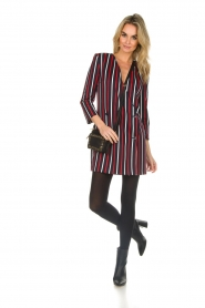 Atos Lombardini |  Striped blazer dress Cassie | blue  | Picture 3