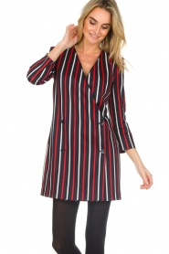 Atos Lombardini |  Striped blazer dress Cassie | blue  | Picture 4