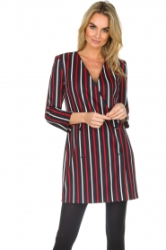 Atos Lombardini |  Striped blazer dress Cassie | blue  | Picture 2
