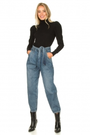 Set |  Baggy paperbag jeans Bowie | blue  | Picture 3