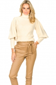 Ibana    Knitted turtle neck sweater Texa   natural    Picture 4