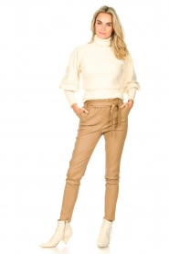 Ibana    Knitted turtle neck sweater Texa   natural    Picture 3