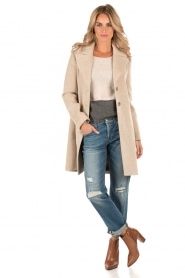Woolen coat Melany | natural