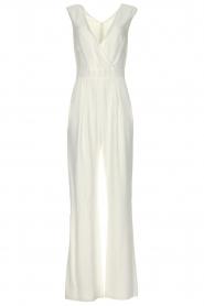 Atos Lombardini |  Classic flared jumpsuit Kristie | white  | Picture 1