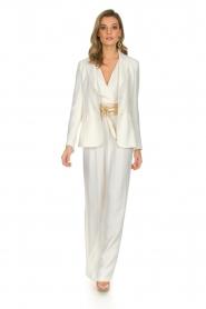 Atos Lombardini |  Classic flared jumpsuit Kristie | white  | Picture 3