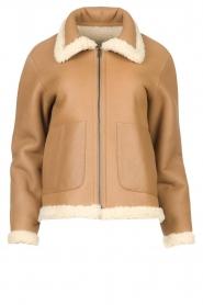 Ibana |  Lammy coat Joelle | brown  | Picture 1