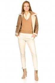 Ibana |  Lammy coat Joelle | brown  | Picture 3