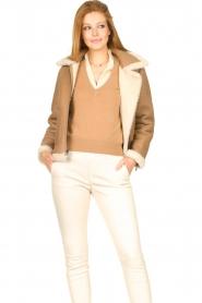 Ibana |  Lammy coat Joelle | brown  | Picture 4