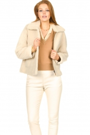 Ibana |  Lammy coat Joelle | brown  | Picture 6