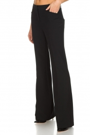Atos Lombardini |  Classic flared trousers Solange | black  | Picture 4