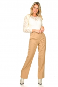 Set |  Straight trousers Trixie | camel  | Picture 3
