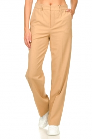 Set |  Straight trousers Trixie | camel  | Picture 4