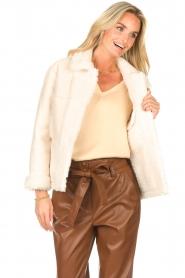 Ibana    Short teddy coat Cita   natural    Picture 7