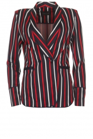 Atos Lombardini |  Striped blazer Aria | blue  | Picture 1