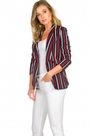 Atos Lombardini |  Striped blazer Aria | blue  | Picture 6