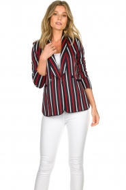 Atos Lombardini |  Striped blazer Aria | blue  | Picture 4