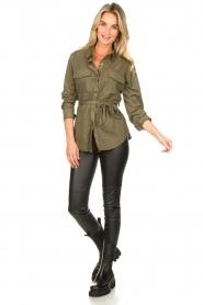 Set |  Faux leather leggings Nadja | black  | Picture 3