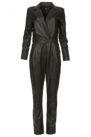 Ibana |  Leather jumpsuit Odel | black  | Picture 1