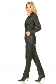 Ibana |  Leather jumpsuit Odel | black  | Picture 5