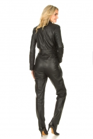 Ibana |  Leather jumpsuit Odel | black  | Picture 6