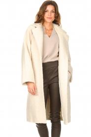 Ibana |  Wrap coat Cara | natural  | Picture 5