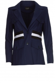 Atos Lombardini |  Military jacket with striped detail Clarke | blue  | Picture 1