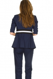 Atos Lombardini |  Military jacket with striped detail Clarke | blue  | Picture 6