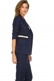 Atos Lombardini |  Military jacket with striped detail Clarke | blue  | Picture 5