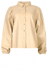 Ibana |  Leather blouse   | Picture 1