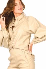 Ibana |  Leather blouse   | Picture 7