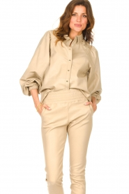 Ibana |  Leather blouse   | Picture 2