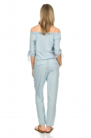 Aaiko : Off-shoulder jumpsuit Triby | blauw - img4