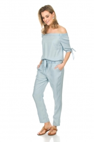 Aaiko : Off-shoulder jumpsuit Triby | blauw - img3