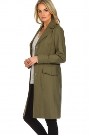 Atos Lombardini    Trench coat with striped detail Olivia   green    Picture 4