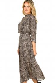 Set |  Animal printed maxi skirt Mizzy | black  | Picture 4