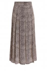 Set |  Animal printed maxi skirt Mizzy | black  | Picture 1
