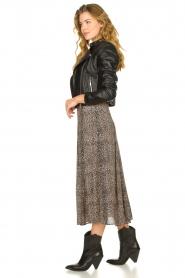 Set |  Animal printed maxi skirt Mizzy | black  | Picture 5