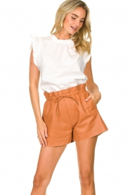 Set |  Top with ruffles Julia | white  | Picture 4