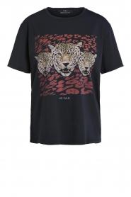 Set | T-shirt met opdruk Yara | zwart  | Afbeelding 1