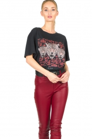 Set   T-shirt met opdruk Yara   zwart    Afbeelding 5