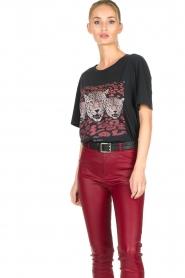 Set   T-shirt met opdruk Yara   zwart    Afbeelding 4