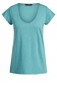 Set | Basic T-shirt Seaside | blauw  | Afbeelding 1