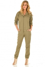 ba&sh | Jumpsuit Madison | legergroen  | Afbeelding 3