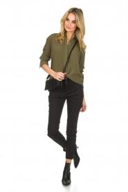 Atos Lombardini |  Classic blouse Amelia | green  | Picture 3