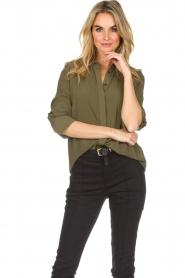 Atos Lombardini |  Classic blouse Amelia | green  | Picture 2